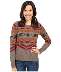 Pendleton Sunset Cross Pullover Soft Brown Tweed Multi Women's Sweater