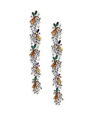 Cara Floral Leaf Earrings Multi