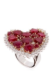 Vennari Strawberry Fields Diamond And Ruby Ring