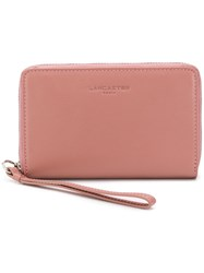 Lancaster Compact Continental Wallet Pink