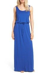 Caslonr Women's Caslon Drawstring Waist Maxi Dress Blue Mazarine