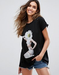 Wildfox Couture Daisy Pin Up T Shirt Clean Black