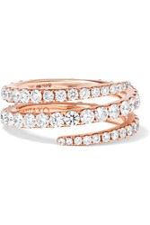 Anita Ko Coil 18 Karat Rose Gold Diamond Phalanx Ring