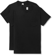 Velva Sheen Two Pack Slim Fit Cotton Jersey T Shirts Black