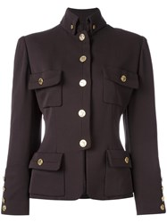 Chanel Vintage Military Jacket Brown