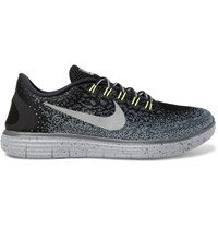 Nike Free Rn Distance Shield Mesh Running Sneakers Black