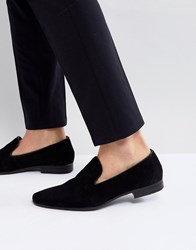 Pier One Suede Loafers In Black