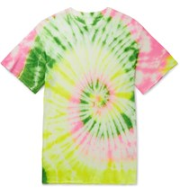 The Elder Statesman Slim Fit Neon Tie Dyed Cashmere And Silk Blend T Shirt Multi