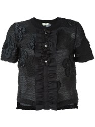 Fendi Floral Cloque T Shirt Black