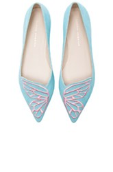 Sophia Webster Bibi Aqua Neon Suede Flats In Blue