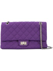 Chanel Vintage Double Flap Shoulder Bag Pink And Purple