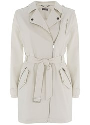 Mint Velvet Chalk Trench Coat Cream