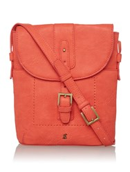 Joules Pu Cross Body Bag Coral