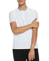 Scotch And Soda Baseball Collar Polo White