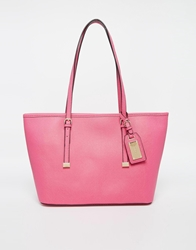 Aldo Hatchet Mini Tote With Buckle Detail Hotpink