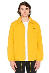 Stussy Smooth Stock Faux Fur Coach Jacket Yellow