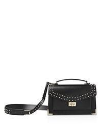 The Kooples Emily Studded Leather Medium Crossbody Black