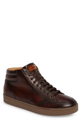 Magnanni Men's Carmel Sneaker Mid Brown Leather