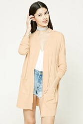 Forever 21 Open Front Cardigan Taupe