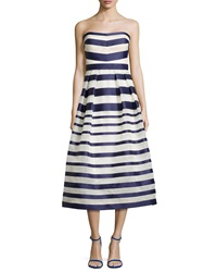 Kay Unger New York Strapless Tea Length Cocktail Dress