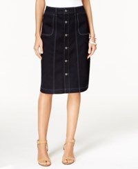 Styleandco. Style And Co. Button Front Pencil Skirt Only At Macy's Rinse