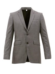 Burberry Single Breasted Wool Suit Grey