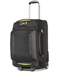 High Sierra At8 22 Wheeled Duffel Black Zest