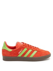 Adidas Gazelle Suede Trainers Red Multi