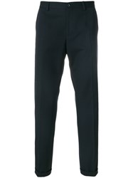 Dolce And Gabbana Tailored Trousers Cotton Spandex Elastane Virgin Wool Blue