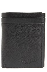 Ted Baker London Leather Trifold Wallet Black
