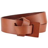John Lewis Willow Leather Wide Loop Belt Tan