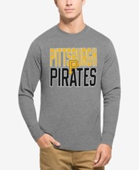 47 Brand '47 Men's Pittsburgh Pirates Power Alley Long Sleeve T Shirt Gray