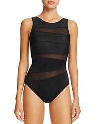 Miraclesuit Silver Style Somerset One Piece Swimsuit Black