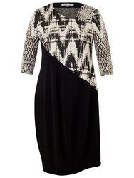 Chesca Paisley Jacquard Dress Black Ivory