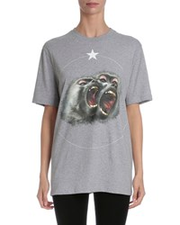 Givenchy Monkey Brothers Short Sleeve Tee Gray