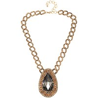Adele Marie Large Link Pendant Necklace Gold Multi