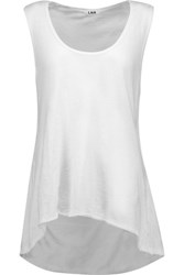 Lna Cedar Cutout Cotton Jersey Tank White