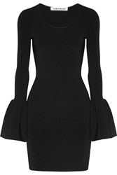Elizabeth And James Willomina Ribbed Knit Mini Dress Black