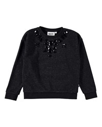 Molo Maila Speckled Bejeweled Sweatshirt Black