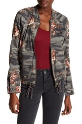 Democracy Floral Camo Bomber Jacket Brown