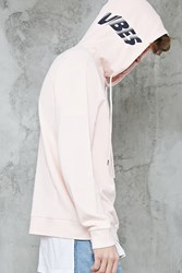 Forever 21 Vibes Graphic Hoodie Pink Black