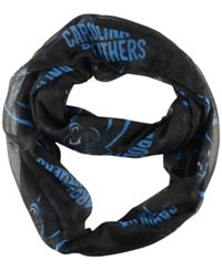 Little Earth Carolina Panthers Sheer Infinity Scarf Black