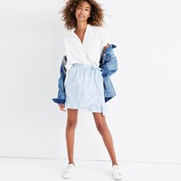 Madewell Meadow Wrap Skirt Craft Blue