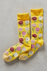 Anthropologie High Season Socks Yellow Motif