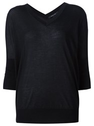 Derek Lam V Neck Jumper Black