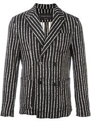 Christian Pellizzari Striped Blazer Black