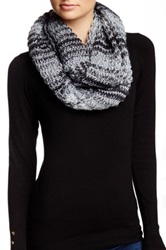 Michael Stars Shimmer Ombre Infinity Scarf Black