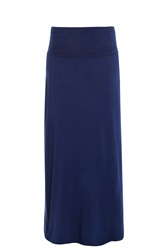 Splendid Supima Maxi Skirt Navy