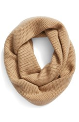 Halogenr Women's Halogen Knit Cashmere Infinity Scarf Tan Camel Heather