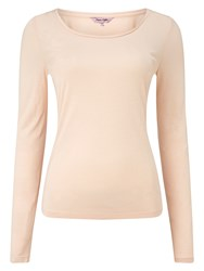 Phase Eight Scoop Neck Tee Nude